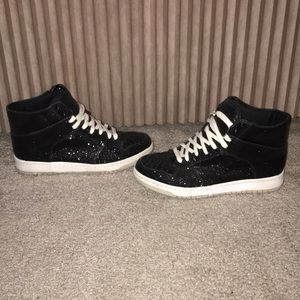 Steve Madden sparkly high top sneakers